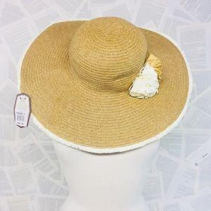 f7b7738c NWT Sun 'N' Sand Straw Floppy Hat Floral